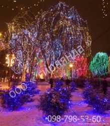 Светодиодные гирлянды купить,новогоднее украшение фасадов улиц деревьев,новогодние фигуры 1