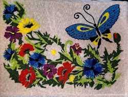 Картина с ткани (нашивка) 94х73см ручная работа