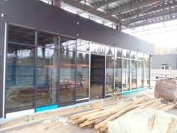 Эксклюзивный фасад здания, светопрозрачный фасад, алюминиевый фасад