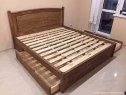 Кровать деревянная с шухлядами