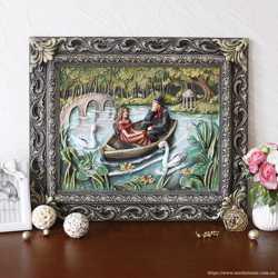 Картина панно Пара влюбленных в лодке
