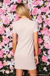 Короткое платье-поло бежевое с воротничком, новое❗️❗️❗️ 2