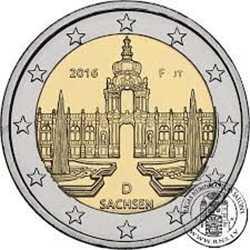 Германия 2 евро 2016 г. Саксония (F)
