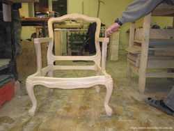 Фигурная деревянная ножка для дивана кресла стула пуфа банкетки софы 3