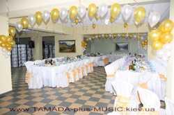 Свадебная арка, украшение банкетного зала, чехлы на стулья... 2