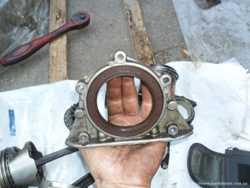 Hyundai/Kia 21441-21000, Задняя крышка коленвала Хюндай Акцент 1.3-1.5