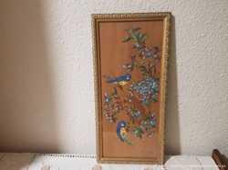 Картина вышита нитками,подпись Фелиса Эрнандес,Испания.