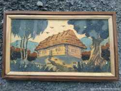 Картина, миниатюра смерекова хата, мінліспром урср