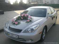 Прокат цветочных композиций для украшения свадебного автомобиля 1