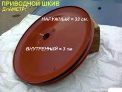 Шкив привода вала шестерни бетономешалки БСТ- 60 Уманьферммаш 1