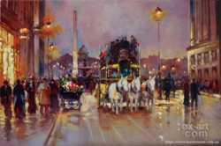 Продам картину - Вечерний Париж. Холст, масло, 60х40