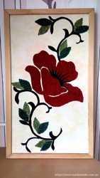 Картина с цветной ткани 76х45см ручная работа