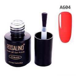 Гель-лак для ногтей маникюра 7мл Rosalind, шеллак, А604 неон оранжевый