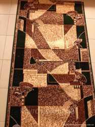 Ковровая дорожка Karat Gold коричневая 0,8 1,3; ширина