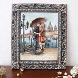 Картина рельефная Пара под зонтом