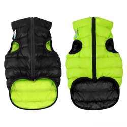 Двусторонняя курточка для собак Airy Vest cалатово-голубая XS30, салат