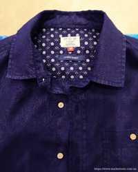 Рубашка Next. Новая Лен 100%. Индиго-темно синий. Размер М 2