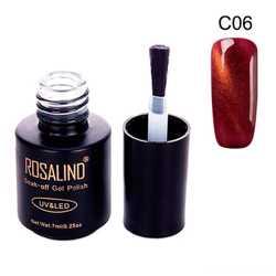 Гель-лак для ногтей маникюра 7мл Rosalind, кошачий глаз, C06 терракото