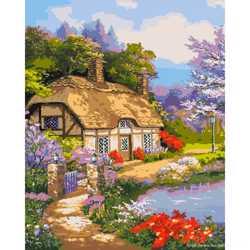"""Картина по номерам. """"Загородный дом"""" 40*50см KHO2255"""