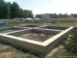 Бетонирование фундаментов,площадок и отмосток