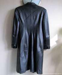 Кожаное женское пальто из натуральной кожи, M/L 2