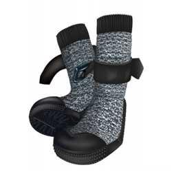 Защитные носки Trixie Walker Socks для собак, размер ХS-S, черно-серый