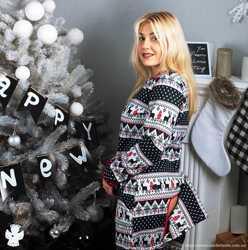 Очень теплая пижама-комбинезон. Шикарный подарок девушке! 2