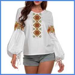 Заготовка жіночої блузи для вишивки бісером або нитками  3