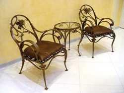 Элитная кованная мебель с элементами плазменной резки: кровати, диваны, столы, стулья 3