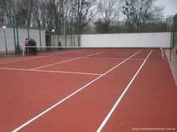 Безшовное каучуковое покрытие спортивной площадки