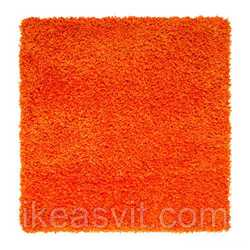 ХАМПЭН Ковер, длинный ворс, оранжевый, 80х80, 30305759, IKEA, ИКЕА, HAНет в наличии