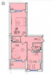 Продам квартиру в ЖК Суворовский- 2 3