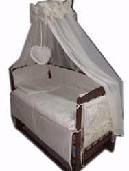 Акция! Набор для сна! Кроватка маятник, матрас кокос, постель 8 эл 1