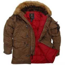 """Супер теплые стильные зимние куртки - легендарная модель N-3B """"Аляска"""" от Alpha Industries Inc. USA 1"""