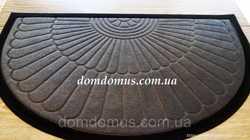 Коврик придверный полукруглый на резиновой основе 45*75 см, серый