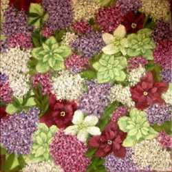 Картина масло холст цветущие морозники