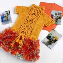 вязаное платье для собак