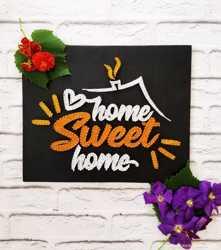 Картина из ниток, милый дом, стринг арт, home sweet home, декор дом