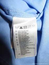 Мужская рубашка H&M easy iron голубая 41-42 с длинным рукавом новая 2