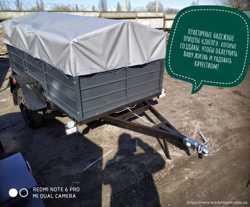 Одноосный прицеп 200х130х40 на рессорах Волга и другие модели