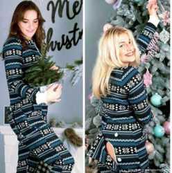 Очень теплая пижама-комбинезон. Шикарный подарок девушке! 3