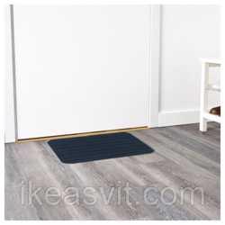 БОРРИС Придверный коврик, темно-синий, 38x57 см 80186688 IKEA, ИКЕА, BНет в наличии