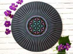 Картина из ниток, Мандала исполнения желаний, Цветочная геометрия