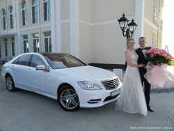 МЕРСЕДЕС W221 S-класс Long AMG белого цвета на свадьбу! 3