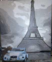 Картина Париж перед дождем