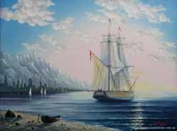 картина маслом морской пейзаж