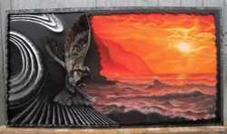 Картина пастеллю+кована рама (ручна робота)
