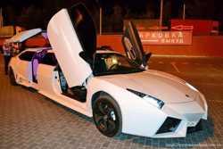 003 Лимузин Lamborghini Reventon белая  1