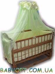 Акция! Кроватка маятник  + матрас кокос + набор постельного 8 эл.
