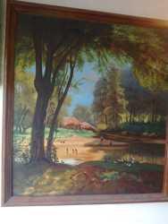 """Картина """"Домик у пруда"""""""